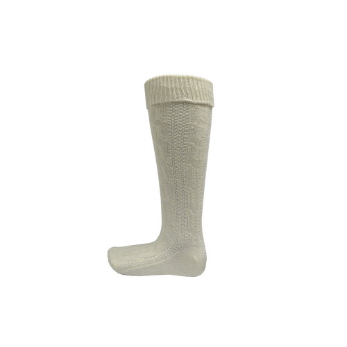 Trachtenstrumpfe / Knee socks High White Size 39-4