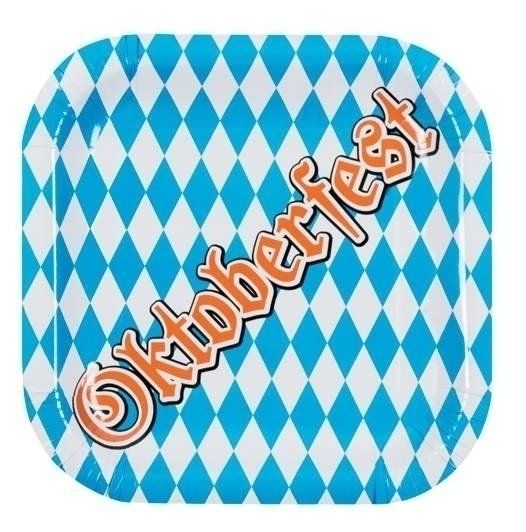 Oktoberfest bordjes (karton) (per 6 verpakt) (25x2
