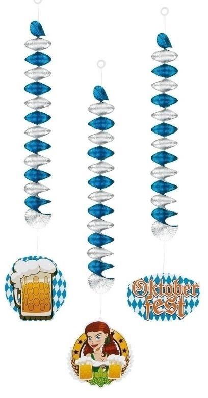 3 Decoration spirals Oktoberfest