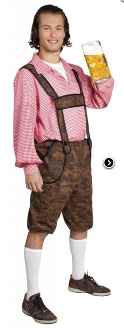 Oktoberfestkleding set Werner (broek en shirt)