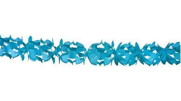 Papieren slinger lichtblauw (6 meter) (brandvertra