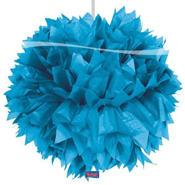 Pompom blauw 30cm