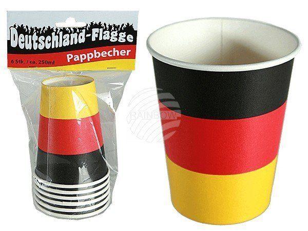 Kartonnen Bekers Duitsland (6 stuks)