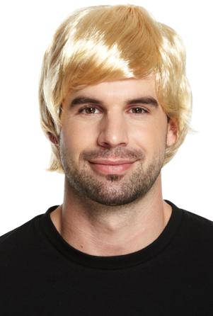 Pruik Dieter blond / One-size