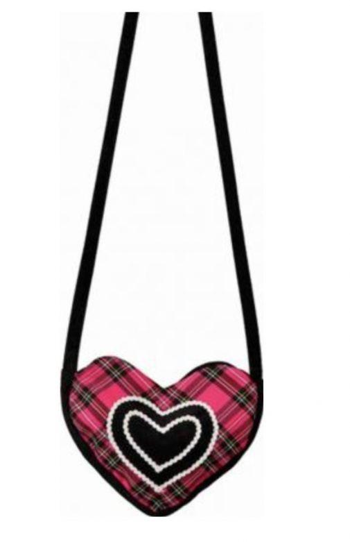 Heart bag pink-black