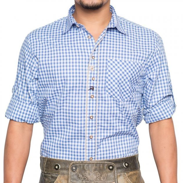 Trachtenhemd Oscar Blauw