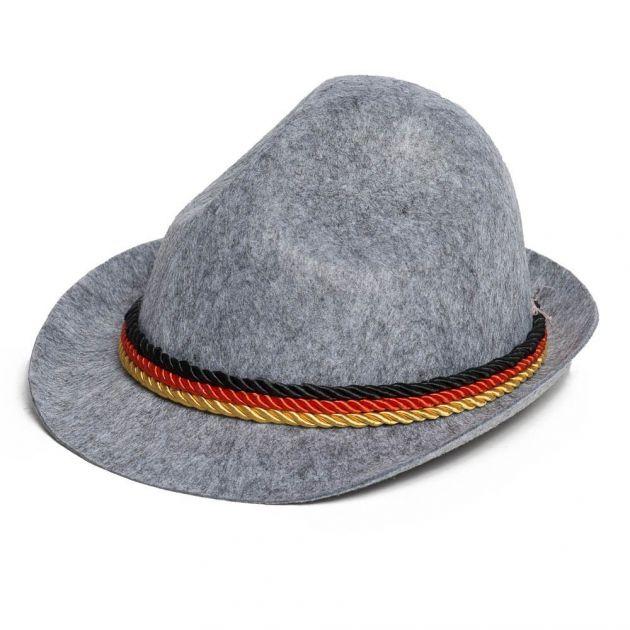Tiroler Hoed grijs Duitsland / One_Size