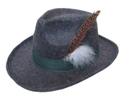 Bayern hoed grijs 'luxe' vilt / One_Size