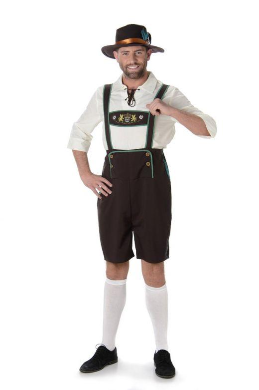 Lederhosen set: Der Manfred - Lederhosen, shirt en hoedje