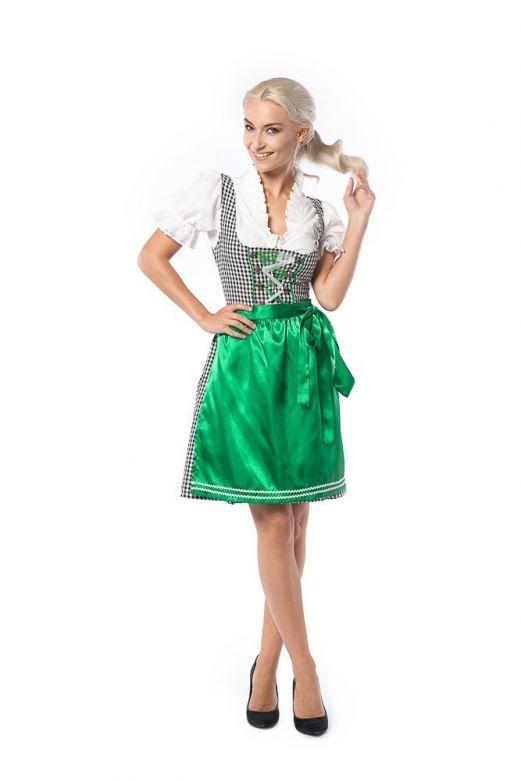 Dirndl Birgit Zwart met Groen