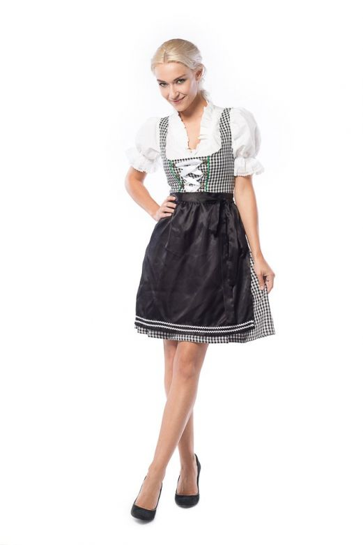 Dirndl Birgit Zwart met Wit