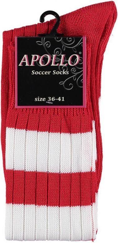 Carnaval Soccer Socks Red/White