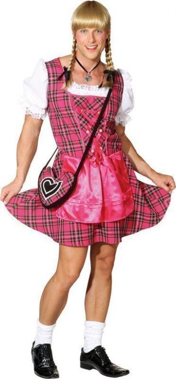 Heren dirndl 'Franzl' pink / M