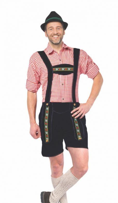 Lederhose Johann Black Short