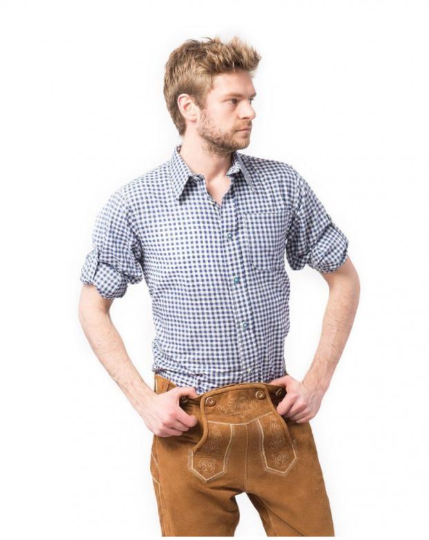 Overhemd Trachtenhemd Putzbrunn - Deluxe blauw